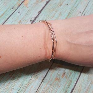 Jewelry - 💎 Rose Gold Tone Geometric Cuff Bracelet